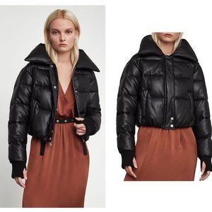BCBGMaxAzria 'Clara' Faux Leather Puffer Jacket